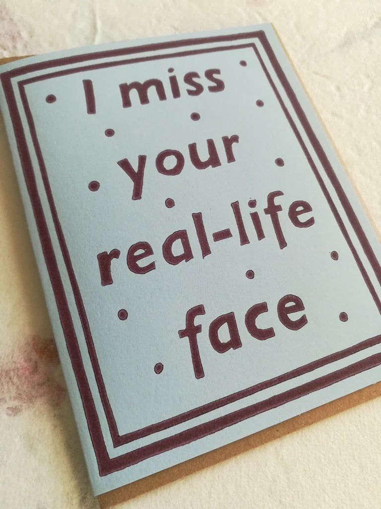 I Miss Your Face Card - Assorted