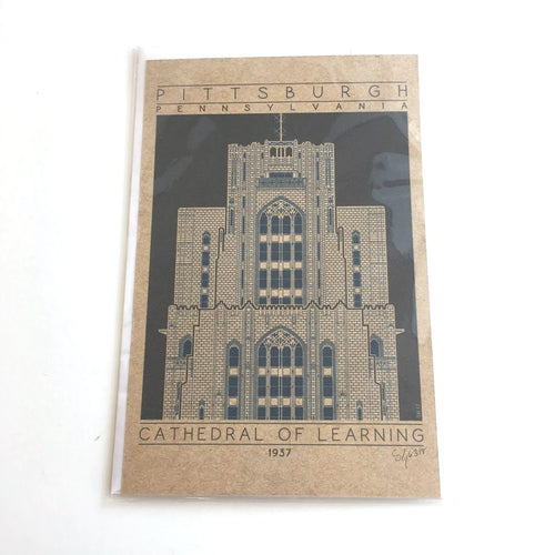 Cathedral of Learning Miniature Print