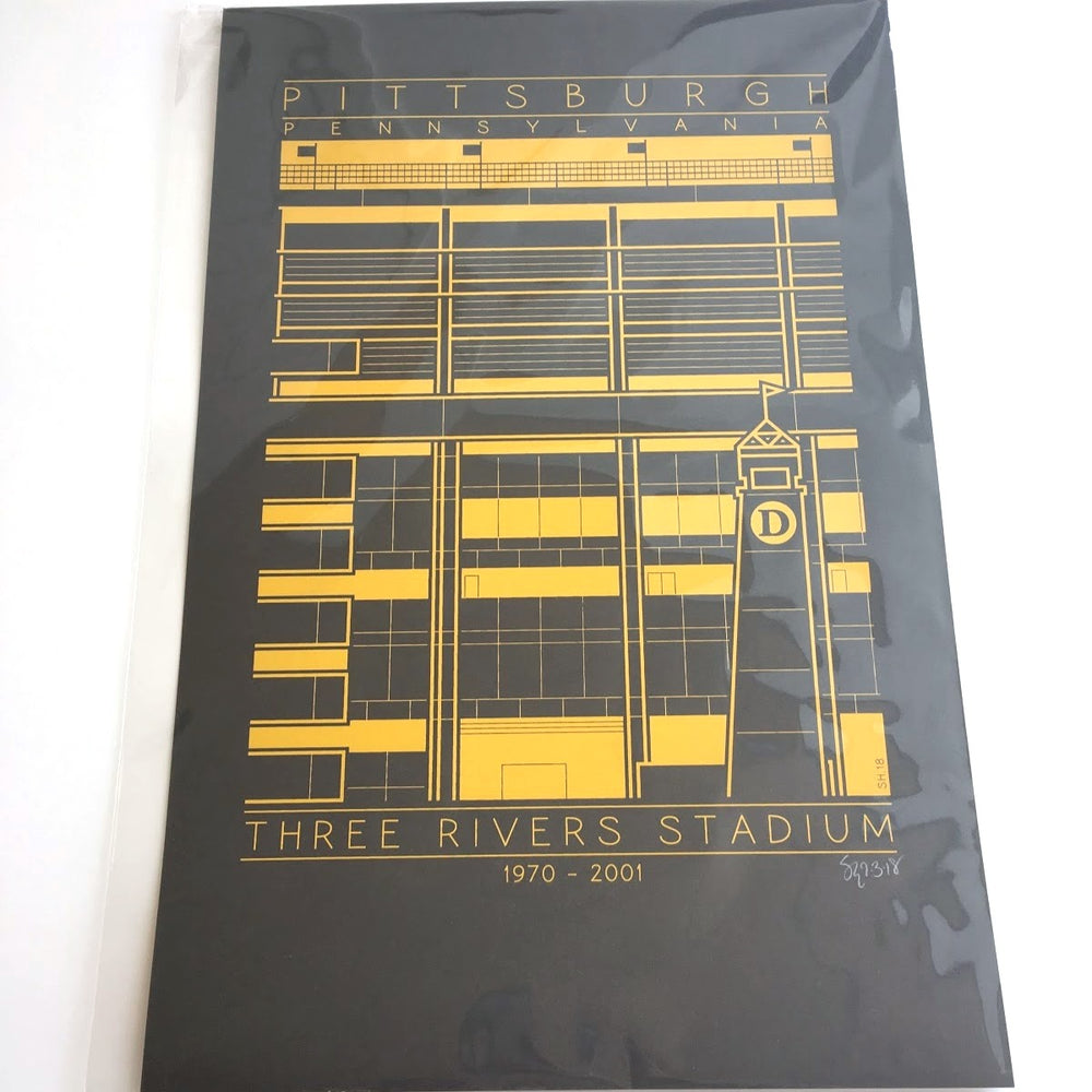 Three Rivers Stadium Print