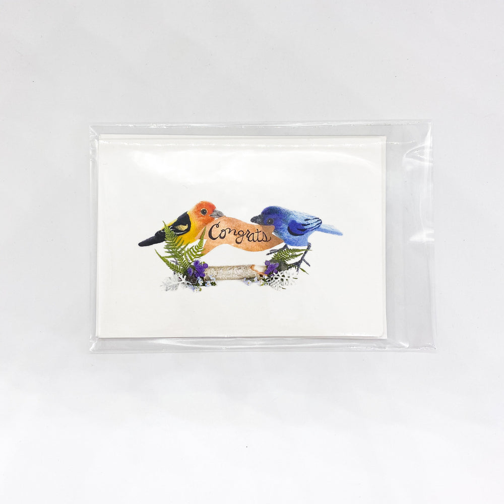 Congrats Birds Card