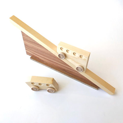Wooden Incline Cars Toy