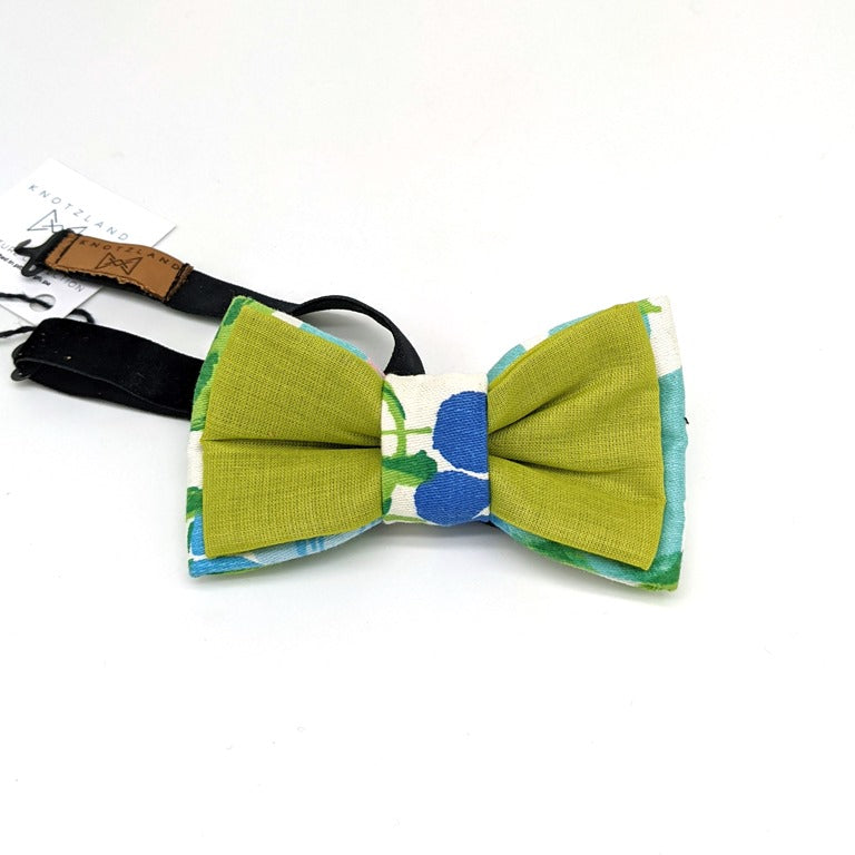Bow Tie - New Green and Floral 1
