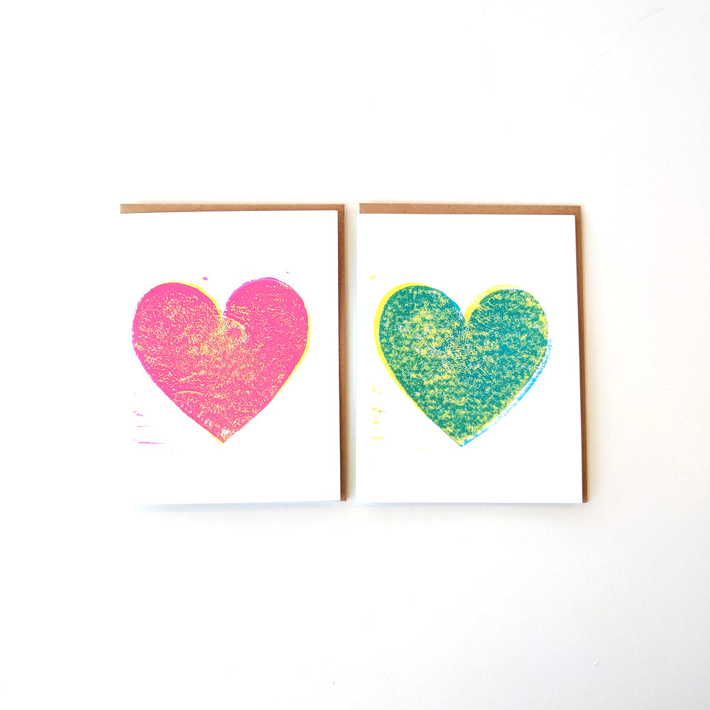 Heart Block Print Card
