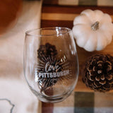 Logo Stemless Wine Glass
