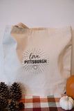 love, Pittsburgh Shopper Tote