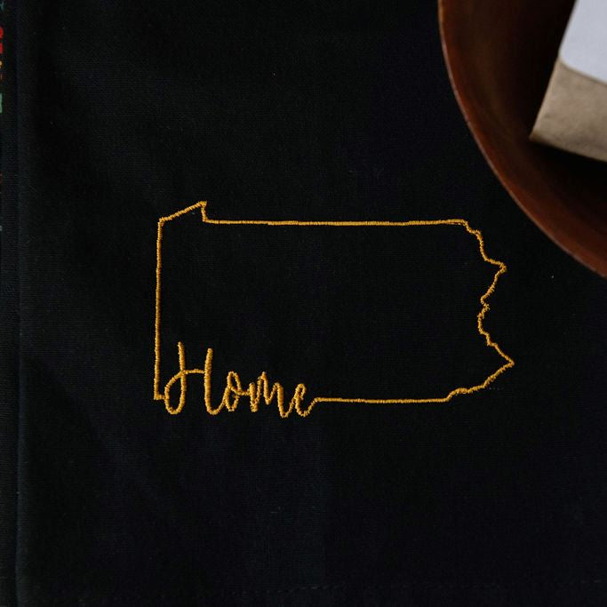 Home Tea Towel - Black and Gold
