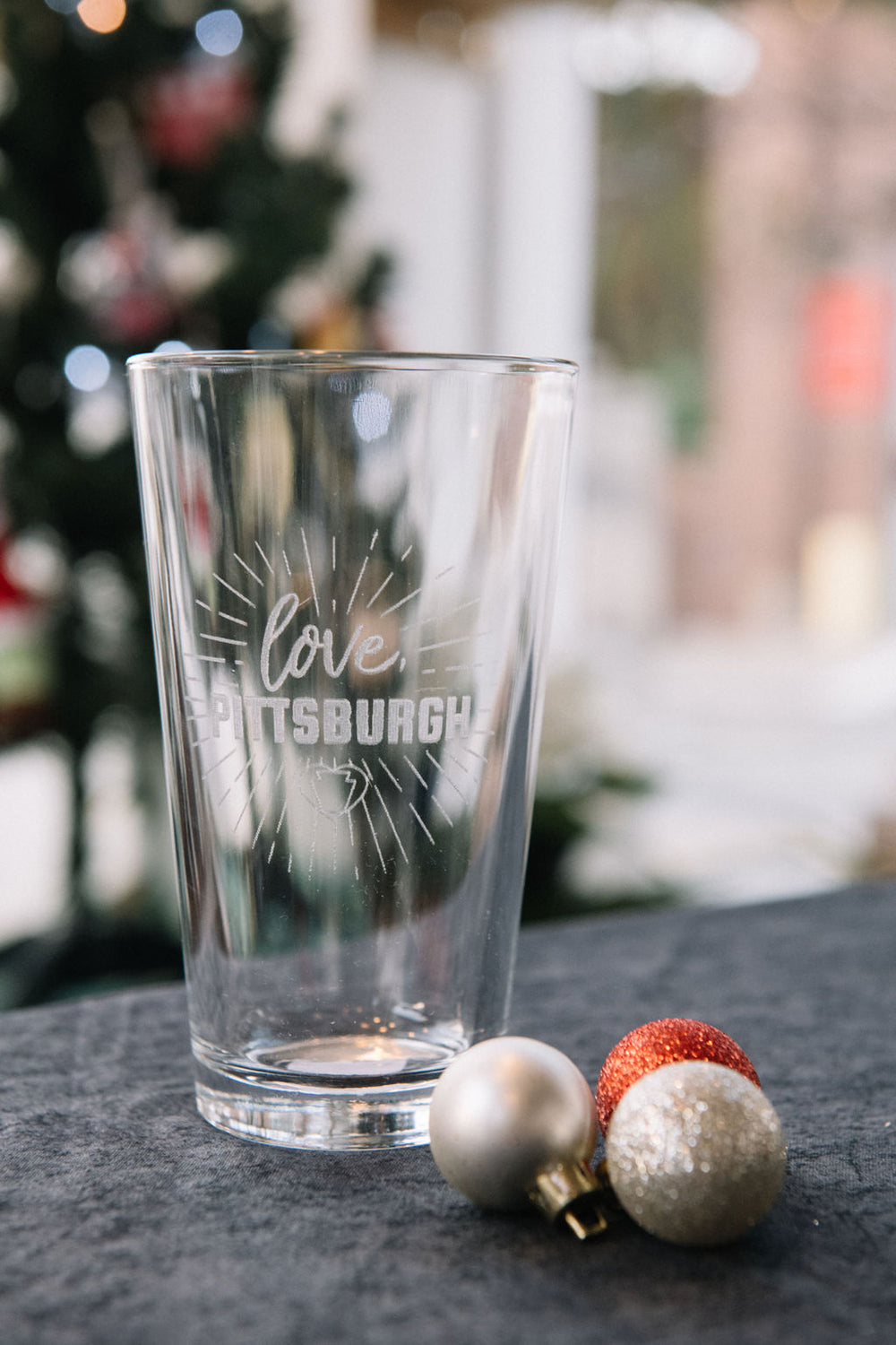 love, Pittsburgh Pint Glass