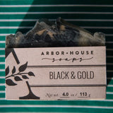 Black and Gold Bar Soap