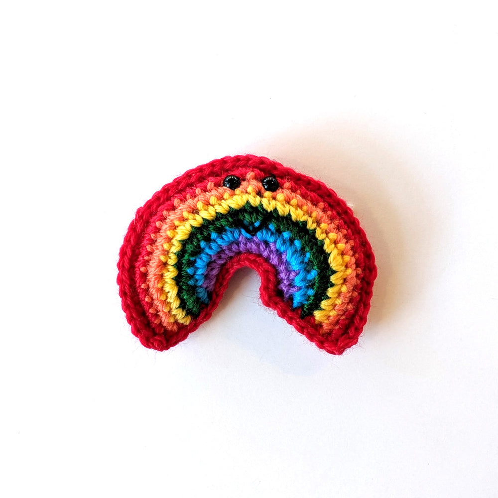 Crochet Rainbow Ornament
