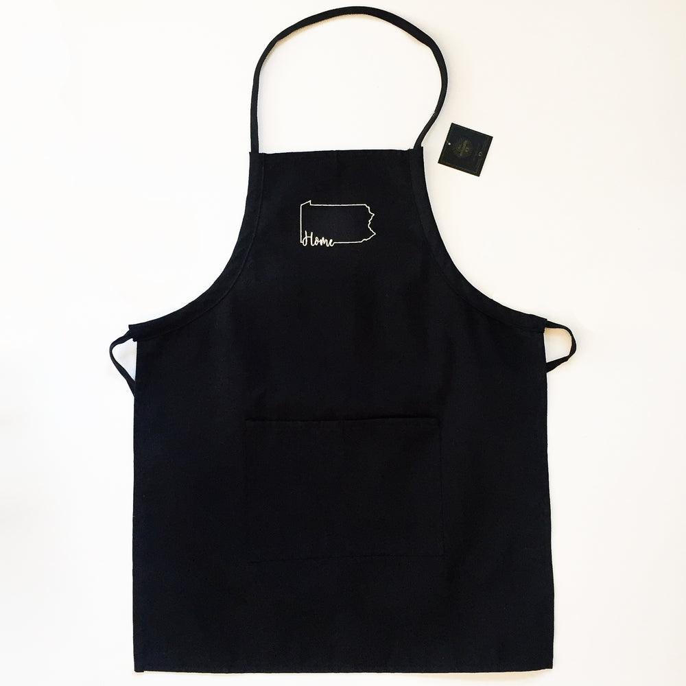 Home Apron - Black and Natural
