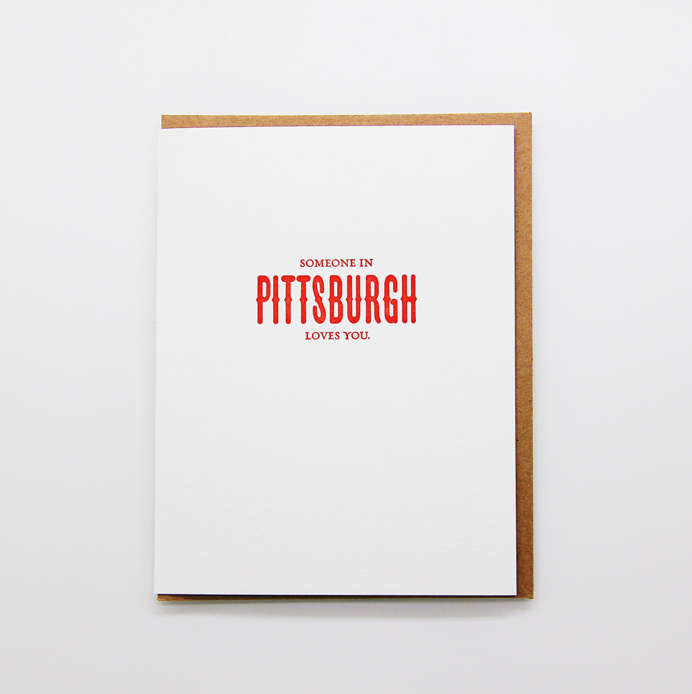 Someone in Pittsburgh Loves you card