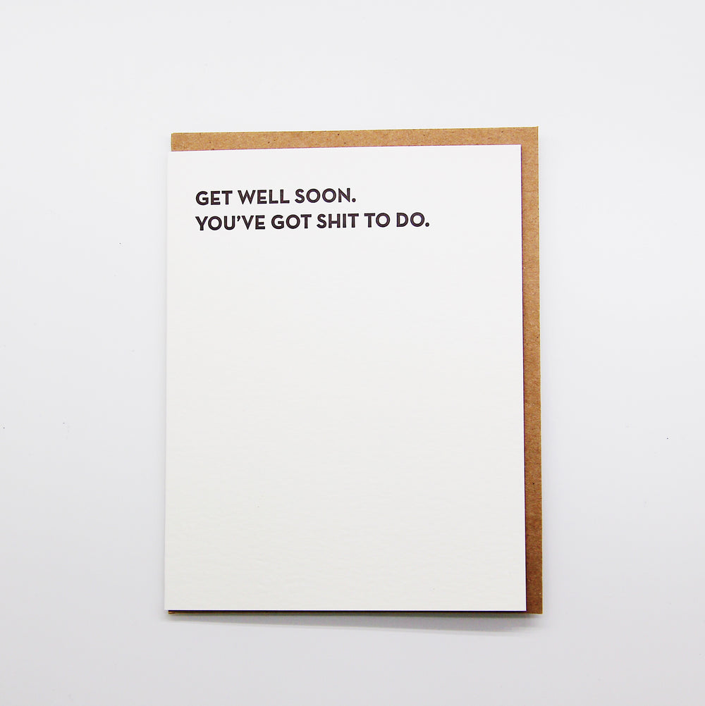 Get Well Soon. sh*t to do card