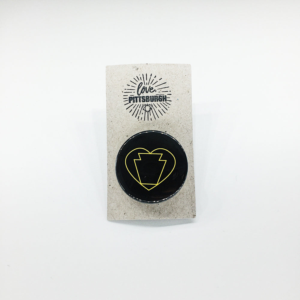 Keystone Heart Pin
