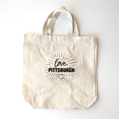 love, Pittsburgh Hand Tote