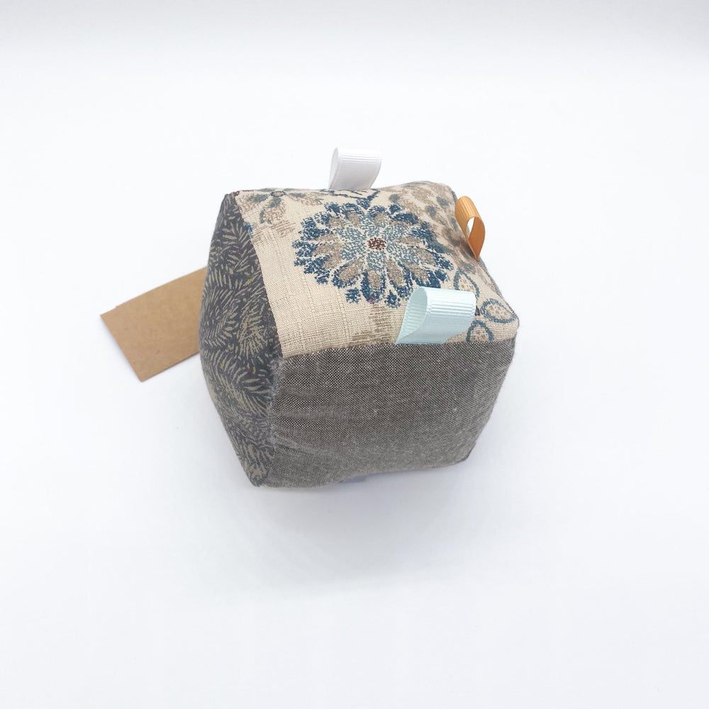Neutral Fabric Baby Cube Toy