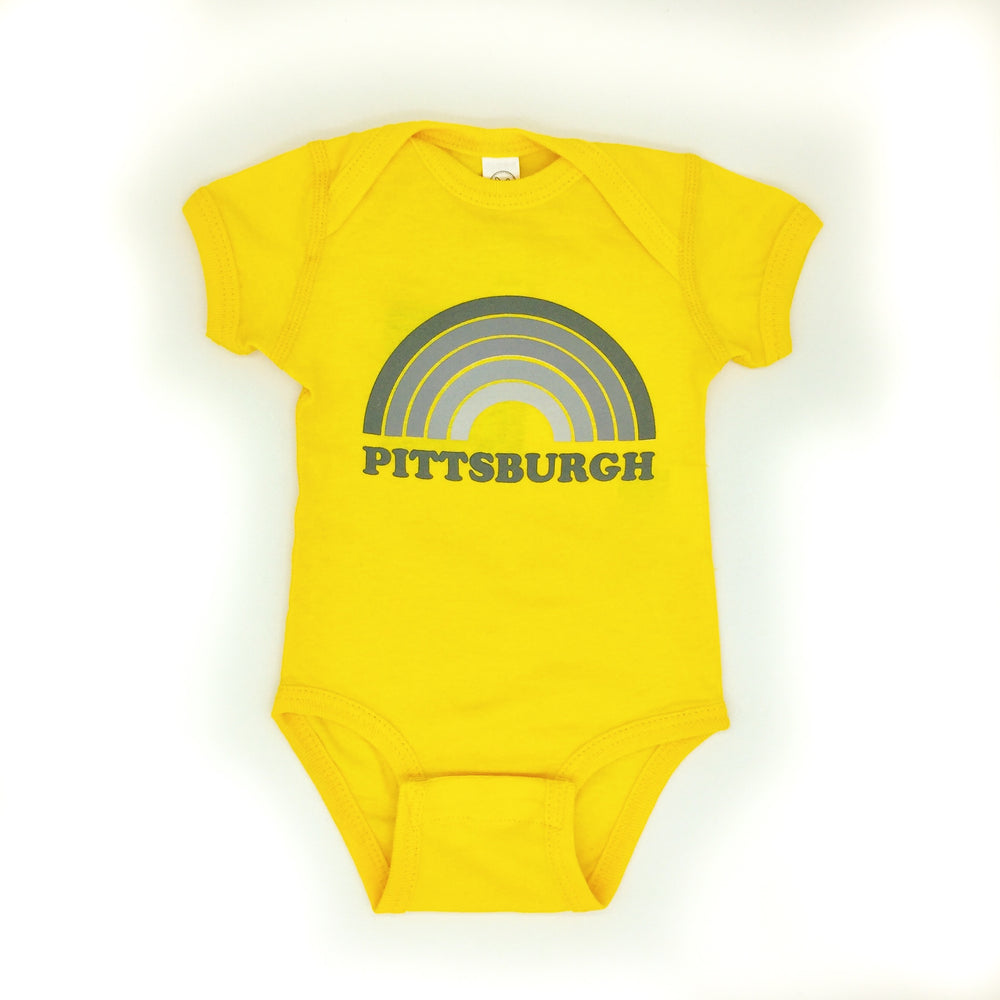Yellow Rainbow Onesie