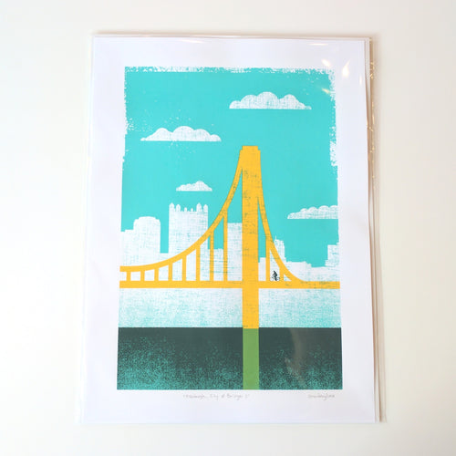 Pittsburgh City of Bridges Print 2