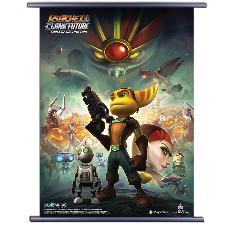 Ratchet And Clank Tools Of Destruction Cover Art Wall Scroll Sumoden