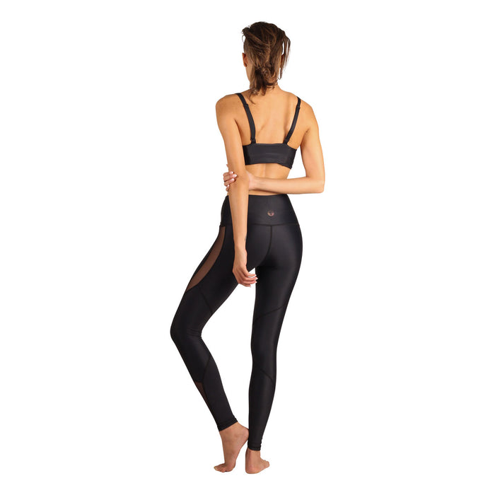 Yoga tights og treningstights The Athena in Black Mesh