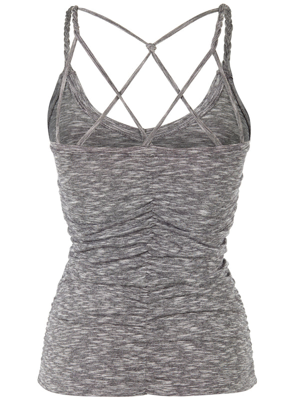 Cable yoga topp - Grey Mouline
