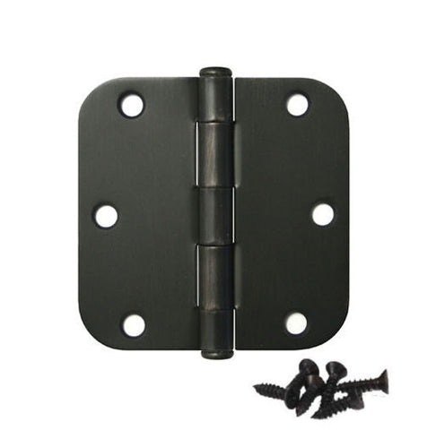 "Radius Door Hinge Oil Rubbed Bronze US10B - 3.5""x3.5"" w 5/8"""