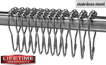 Shower Curtain Hooks/Rings - Stainless Steel
