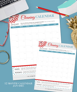 Evergreen Cleaning Calendar {Digital Download}