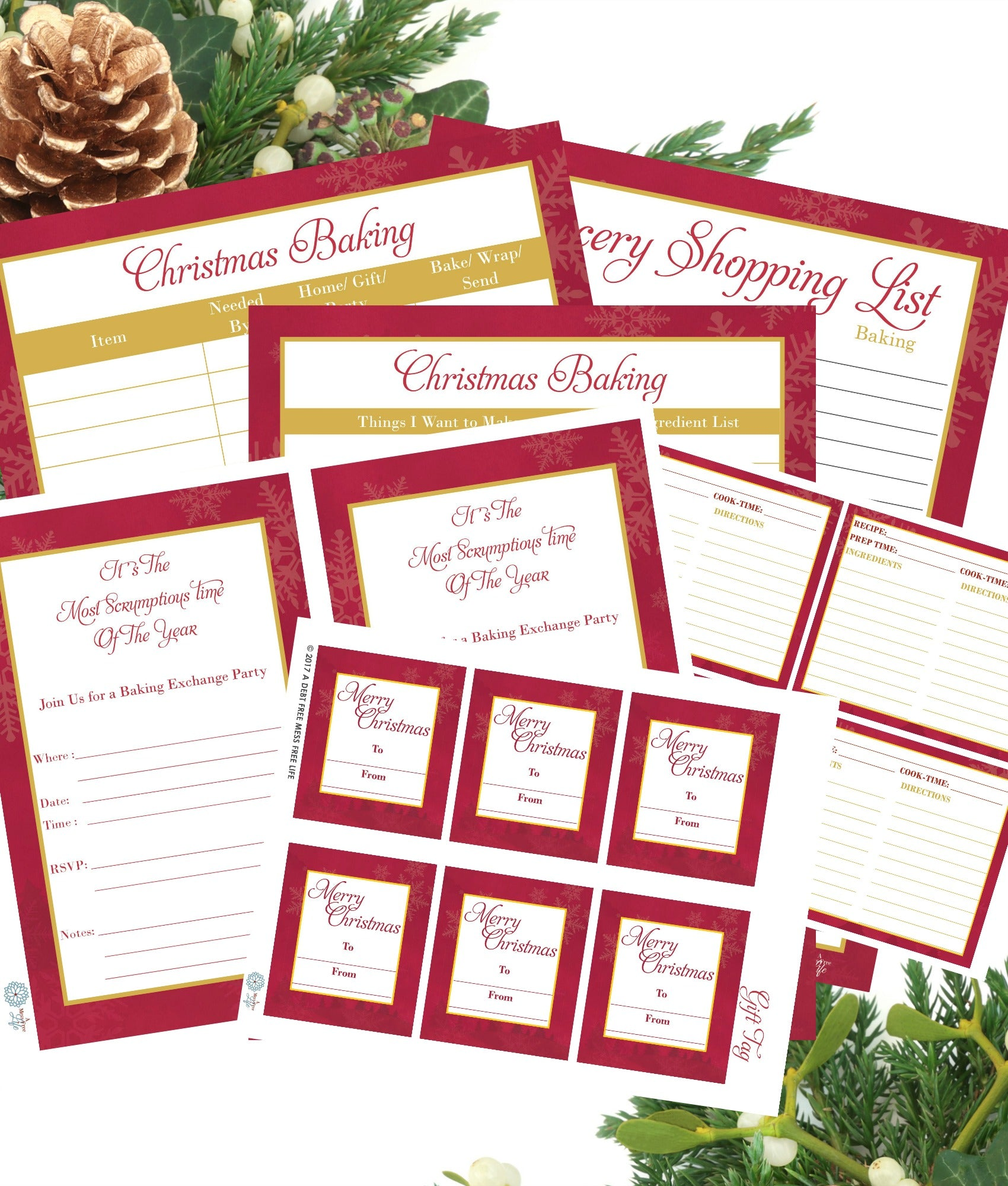 Cookie Swap Printable Bundle