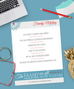 Family Meeting:  Rules {Digital Download}