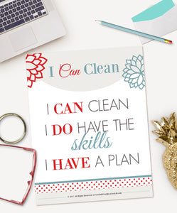 I Can Clean Motivational Print {Digital Download}