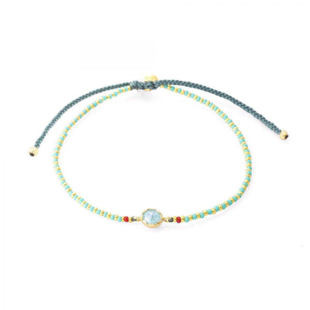 TAI  Beaded Bracelet with Rock Crystal