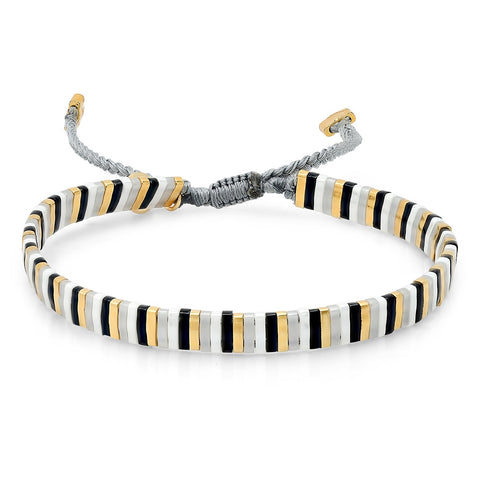 TAI Candy Striper Bracelet in Metallic Multi
