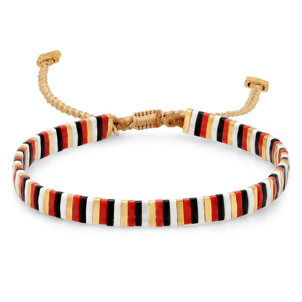 TAI Candy Striper Bracelet in Red Multi