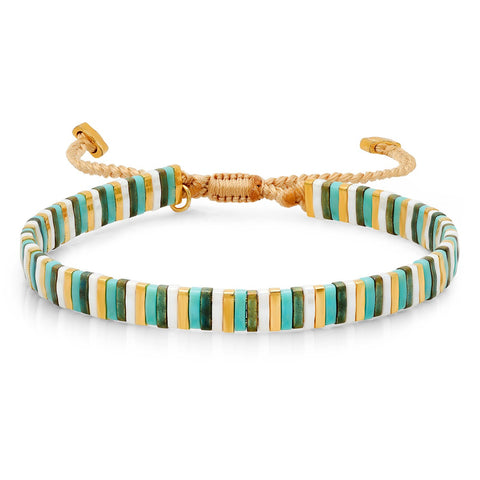 TAI Candy Striper Bracelet in Turquoise Multi