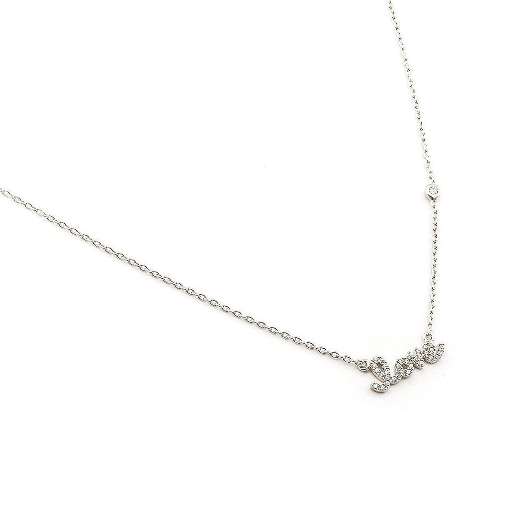 Tai Love Pendant  Necklace - Silver