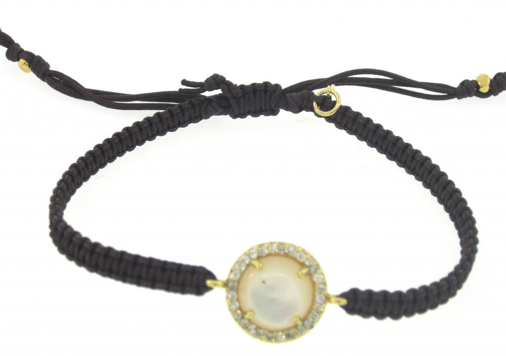 TAI  Mother of Pearl & CZ Bracelet