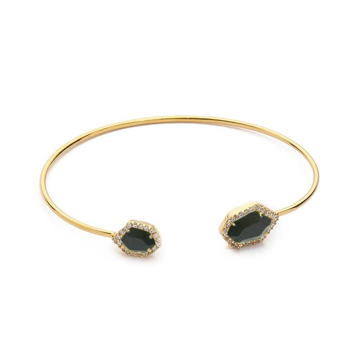 TAI ADJUSTABLE HEX OPEN BRACELET
