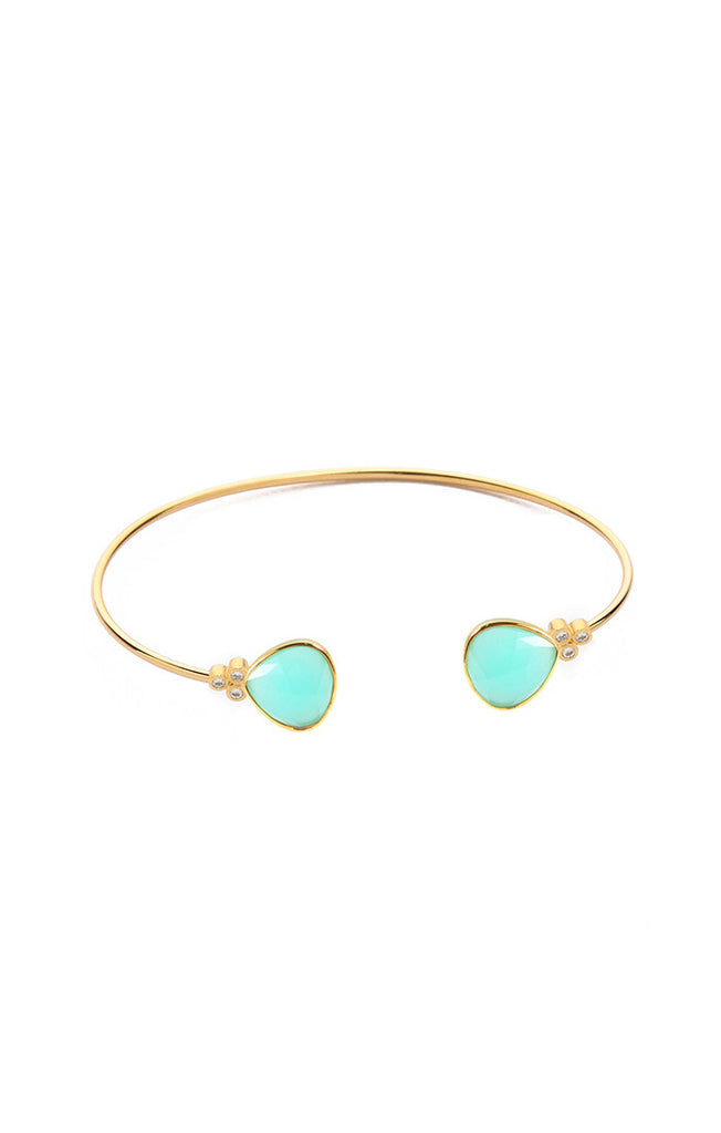 Tai Mint Open Organic Cuff - Gold