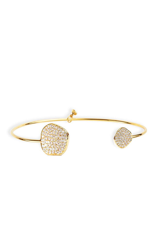 Tai Irregular disc Bracelet- Gold