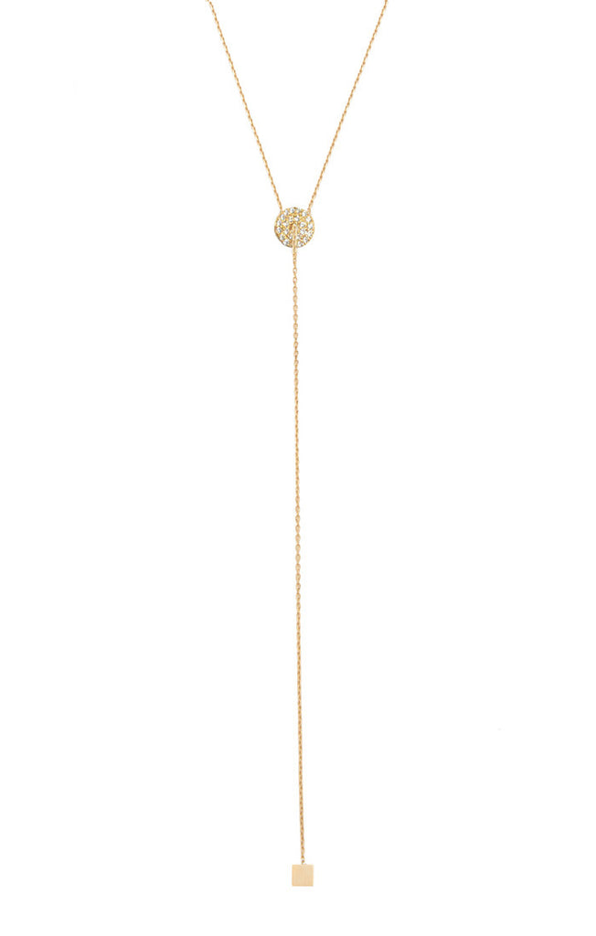 Tai Simple Chain Lariat Necklace- Gold