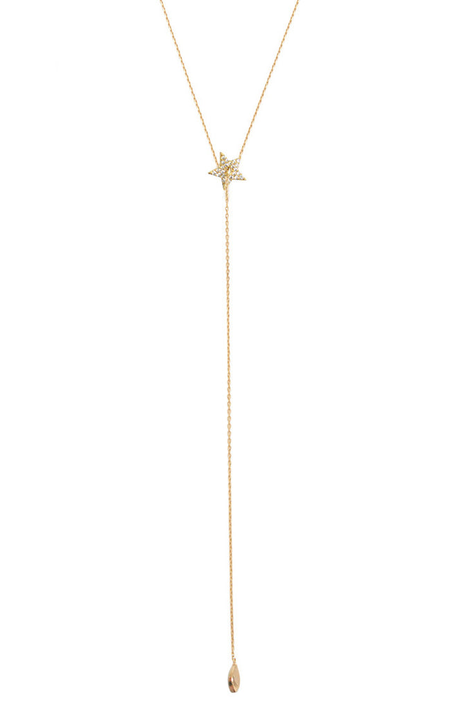 Tai Star Simple Chain  Necklace- Gold
