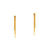 TAI Three Strand Short Linear Drip Earrings
