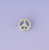 Lau International Diamond Mini Peace Sign Necklace
