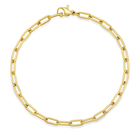 TAI SMALL OVAL CABLE LINK CHAIN BRACELET