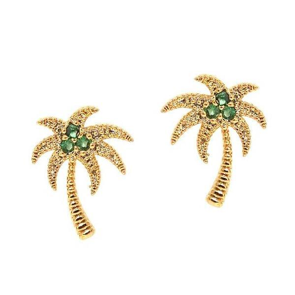 TAI PALM TREE STUD EARRINGS