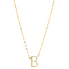 TAI Medium Sized Initial Necklace with CZ Accent