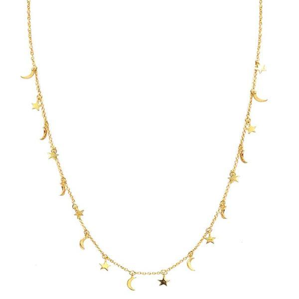 TAI MOON AND STAR CHARM NECKLACE