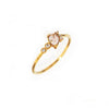 TAI THIN GOLD BAND WITH TEAR DROP CRYSTAL AND CZ ACCENT STONES