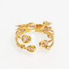 TAI Adjustable Gold Multi  Stone Wrap Ring- Gold