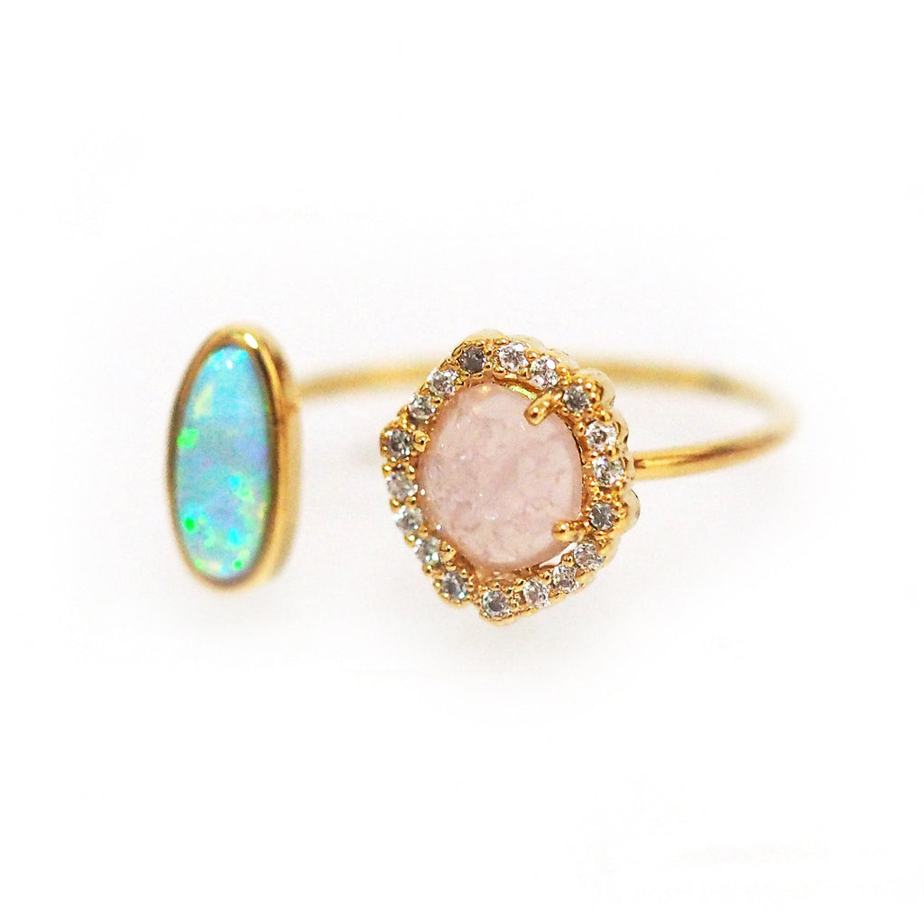 Two Stone Stackable Ring